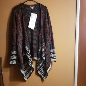 Maurices Open Front Shark Bite Cardigan